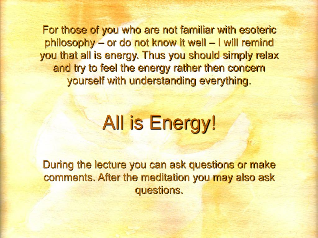 All is Energy!