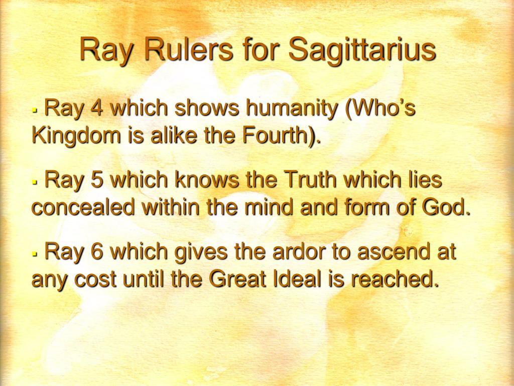 Ray Rulers for Sagittarius