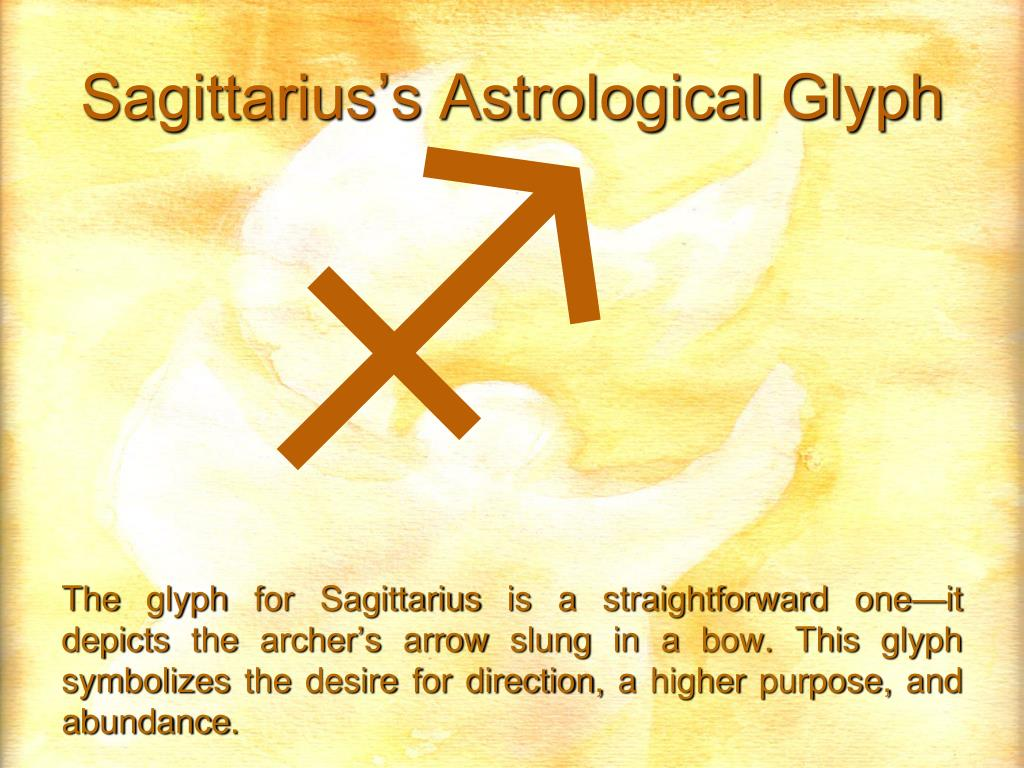 Sagittarius's Astrological Glyph