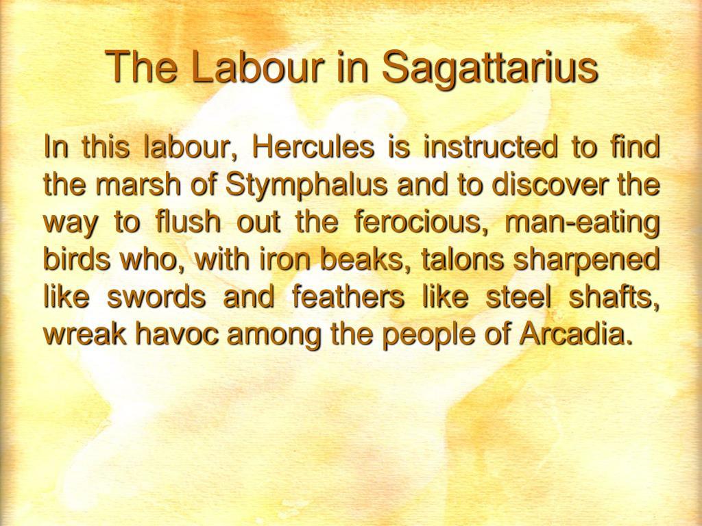 The Labour in Sagattarius