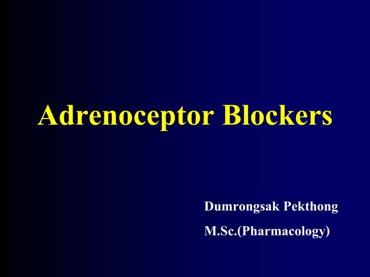 adrenoceptor blockers n.
