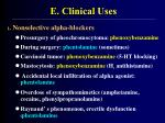 e clinical uses