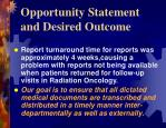 opportunity statement and desired outcome