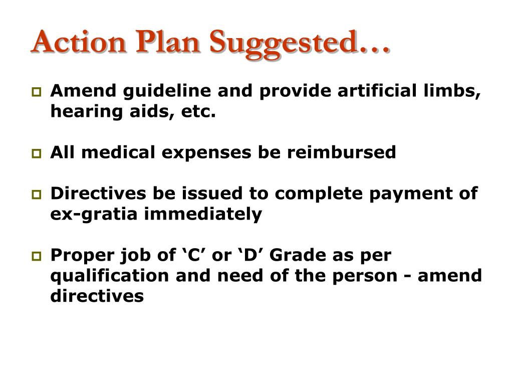 Action Plan Suggested…
