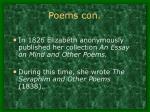poems con