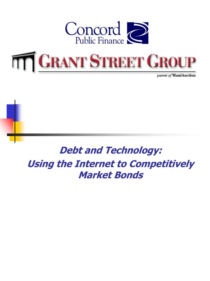 debt and technology using the internet to competitively market bonds n.
