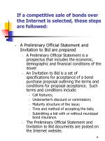 if a competitive sale of bonds over the internet is selected these steps are followed