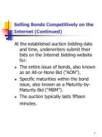 selling bonds competitively on the internet continued