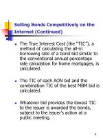 selling bonds competitively on the internet continued1