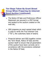 ten steps taken by grant street group when preparing an internet bond auction continued