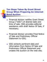 ten steps taken by grant street group when preparing an internet bond auction