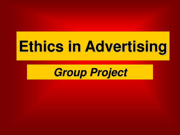 ethics in advertising n.