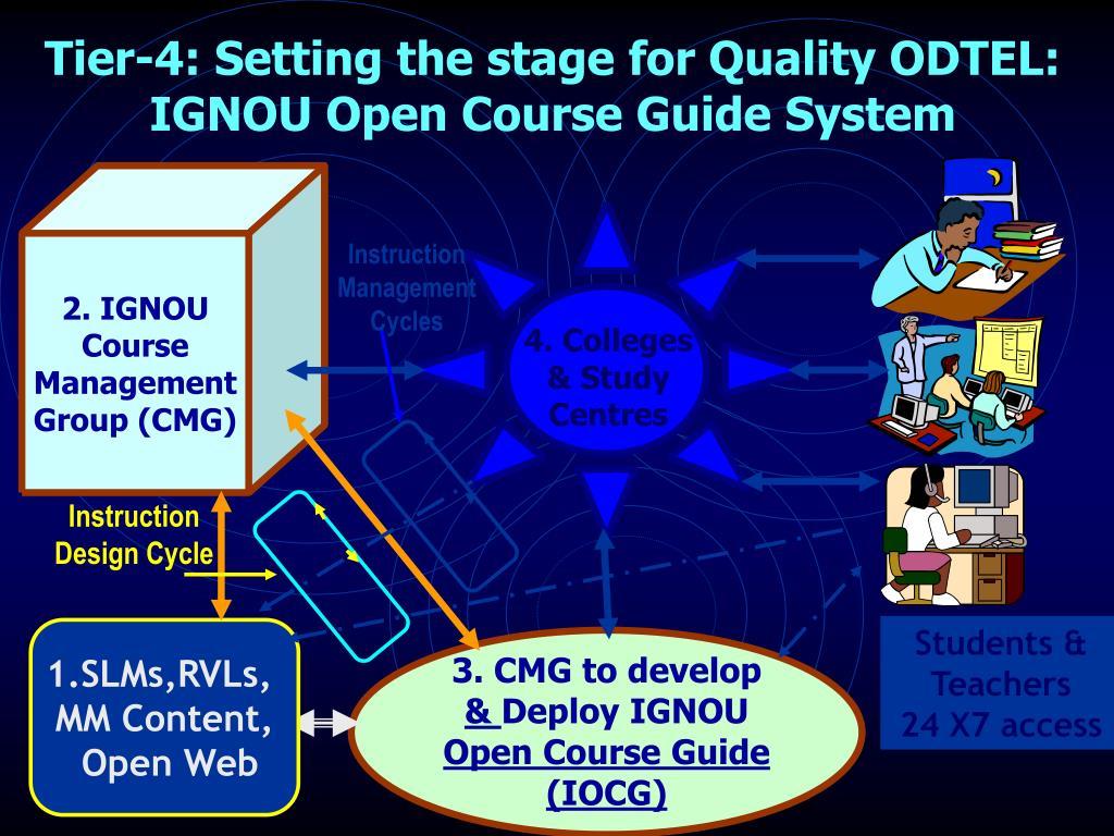 2. IGNOU Course Management Group (CMG)