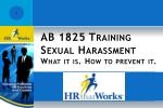 ab 1825 training s exual harassment what it is how to prevent it