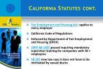 california statutes cont