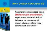 most common complaints 2