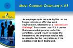 most common complaints 3