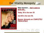 our vitality monopoly