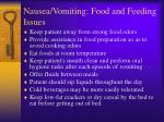 nausea vomiting food and feeding issues