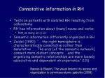 connotative information in rh