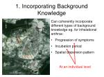 1 incorporating background knowledge2