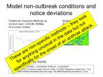 model non outbreak conditions and notice deviations1