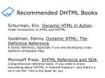 recommended dhtml books