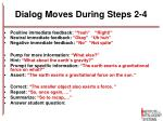 dialog moves during steps 2 4