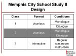 memphis city school study ii design