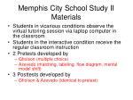 memphis city school study ii materials