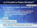 is it possible to regain salvation1