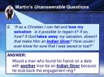 martin s unanswerable questions1