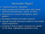 hovmoller report
