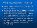 what is a hovmoller analysis
