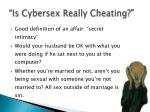 is cybersex really cheating