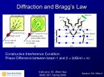 diffraction and bragg s law