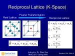 reciprocal lattice k space