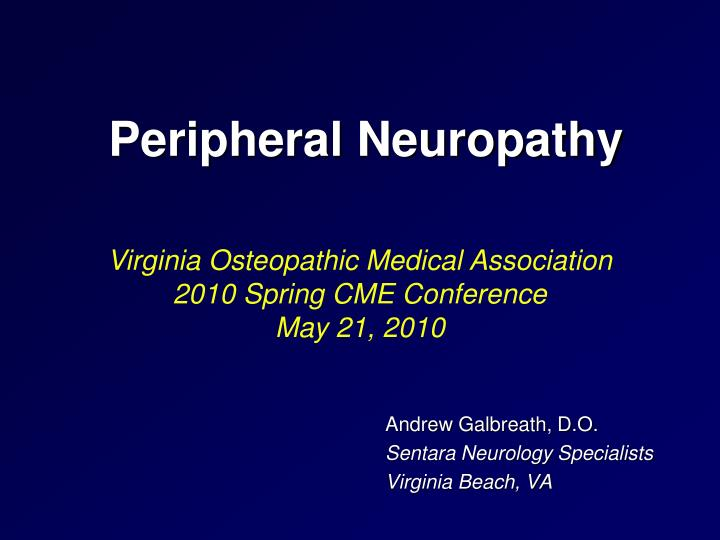 peripheral neuropathy n.