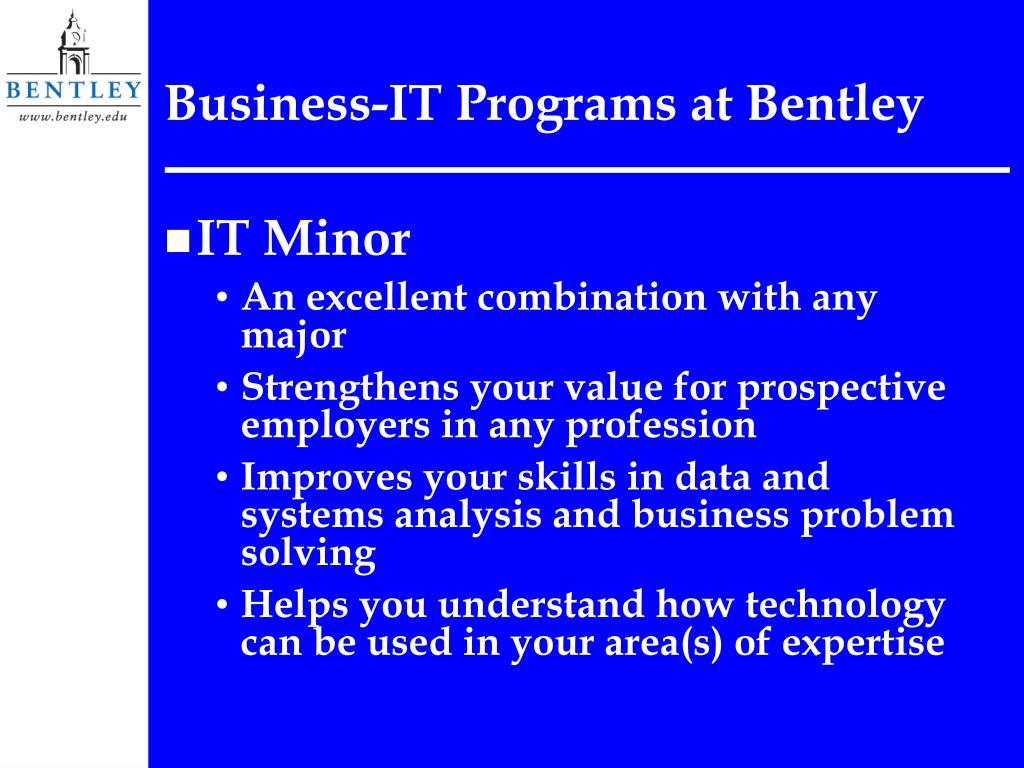 Business-IT Programs at Bentley
