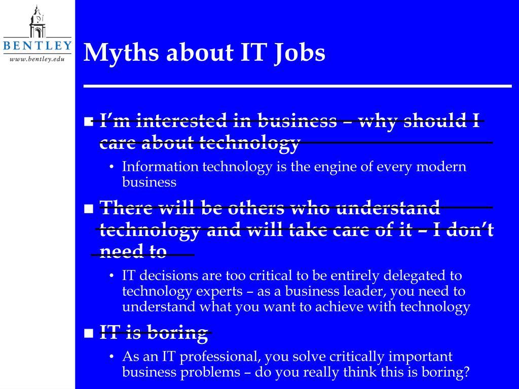 Myths about IT Jobs