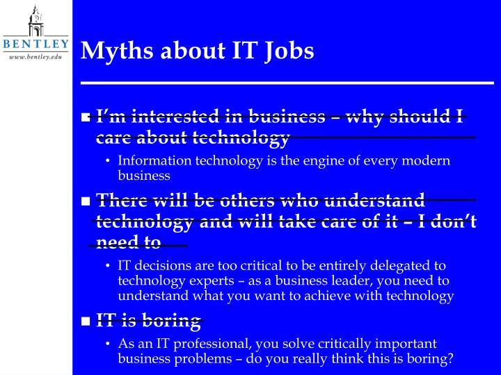 Myths about it jobs3