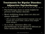 treatments for bipolar disorder adjunctive psychotherapy