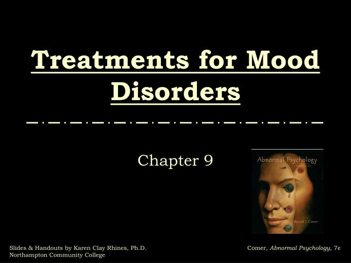 treatments for mood disorders n.