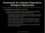 treatments for unipolar depression biological approaches10
