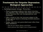 treatments for unipolar depression biological approaches11