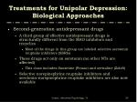 treatments for unipolar depression biological approaches12