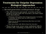 treatments for unipolar depression biological approaches13