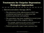 treatments for unipolar depression biological approaches2