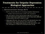 treatments for unipolar depression biological approaches3