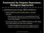 treatments for unipolar depression biological approaches6